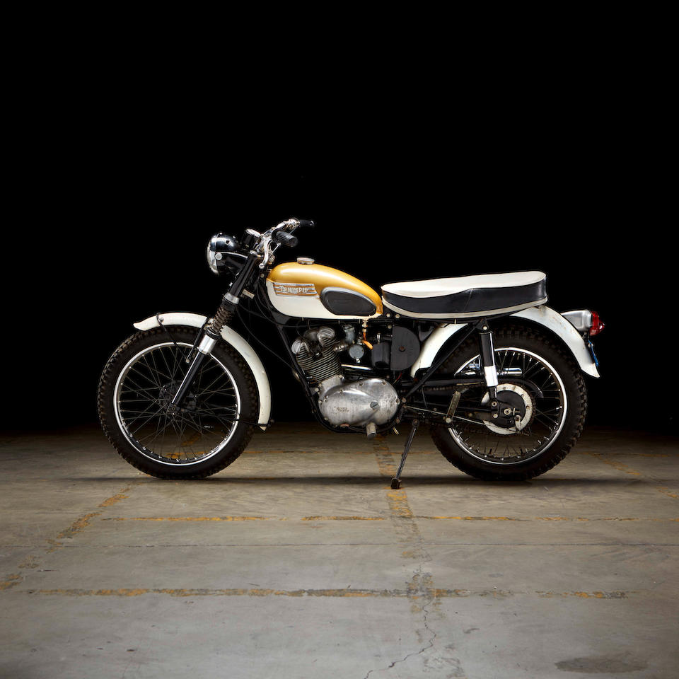 Formerly owned by On Any Sunday director Bruce Brown, 1967 Triumph 197cc T20M Mountain Cub Frame no. T20M 2895 Engine no. T20M 2895