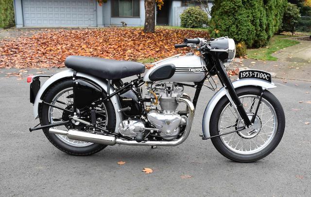 1953 Triumph 500cc T100C Frame no. 41881 Engine no. T100.C. 41881