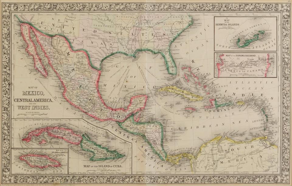Seutter, Georg Matthaus. 1678-1757. Novus Orbis sive America meridionalis et septentrionalis. Augsburg: [c.1740].