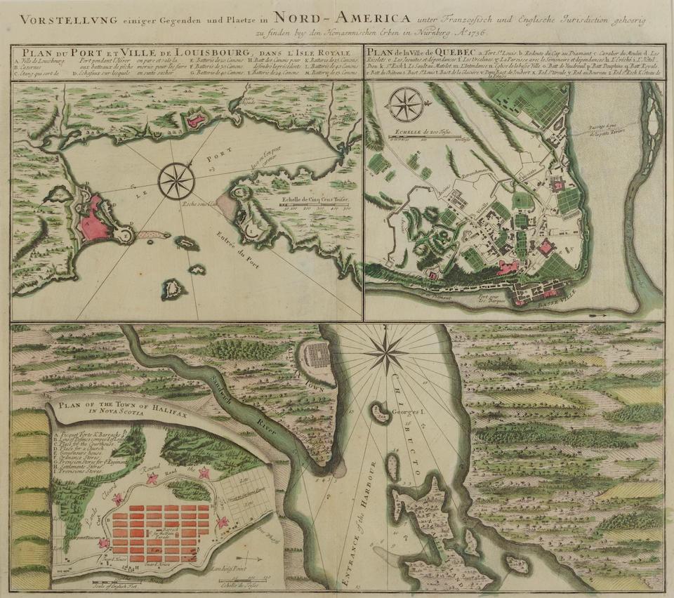 The St. Laurence River, Montreal and Quebec. BELLIN, JACQUES NICOLAS. 1703-1772. Carte Reduite du Golphe de St. Laurent. Paris: 1754.