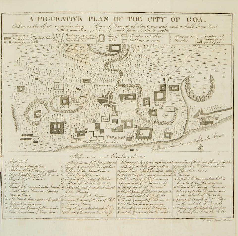COTTINEAU DE KLOGUEN, DENIS LOUIS. D.1830. An Historical Sketch of Goa, the Metropolis of the Portuguese Settlements in India.  Madras: William Twigg, at the Gazette Press, 1831.