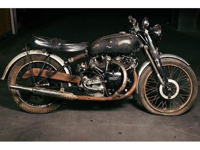 1952 Vincent 998cc Black Shadow Series C, Frame no. RC8161B, Rear frame no. RC8161B Engine no. F10AB/1B/6261