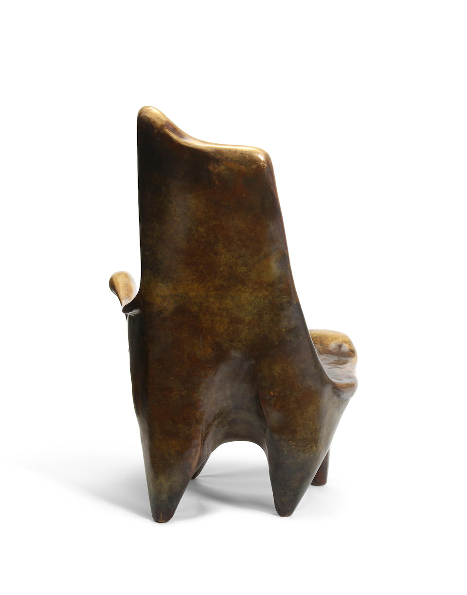 Sido (1936-1986) and Francois Thevenin (1931-2016) Crypto 10 Armchair1985for Sawaya and Moroni, patinated bronzeheight 35 1/4in (89.5cm); width 22 1/2in (57.1cm); depth 19in (48.2cm)