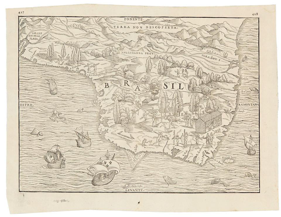 [Ramusio, Giovanni Battista.] 1485-1557. [Brasil. Venice: c.1565 or later.]