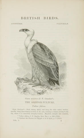 BRITISH BIRDS.  Four titles: 1. MACGILLIVRAY, WILLIAM. 1796-1852. A History of British Birds, Indigenous and Migratory.