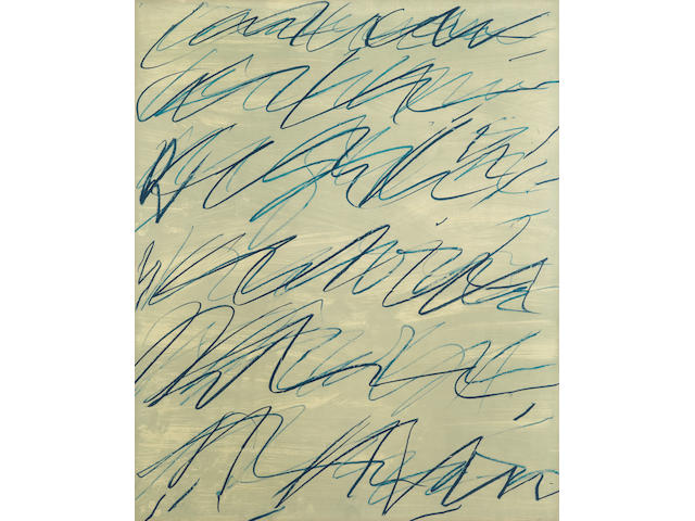 Cy Twombly (1928-2011); Roman Notes I, from Roman Notes;