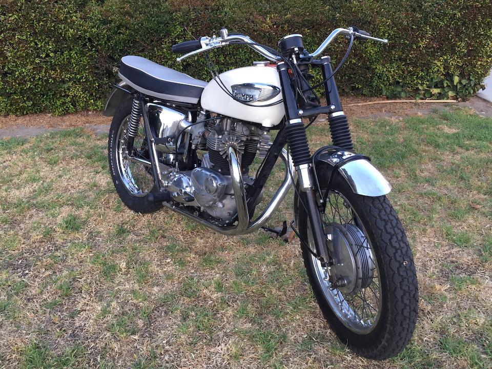 1966 Triumph T120TT Frame no. T120TT DU39671 Engine no. T120TT DU39671