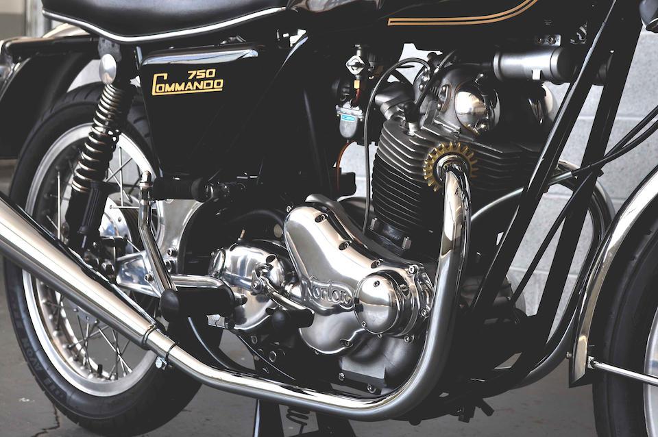 As built by NYC Norton,1973 Norton 750 Commando Roadster Frame no. 235155 Engine no. 235155