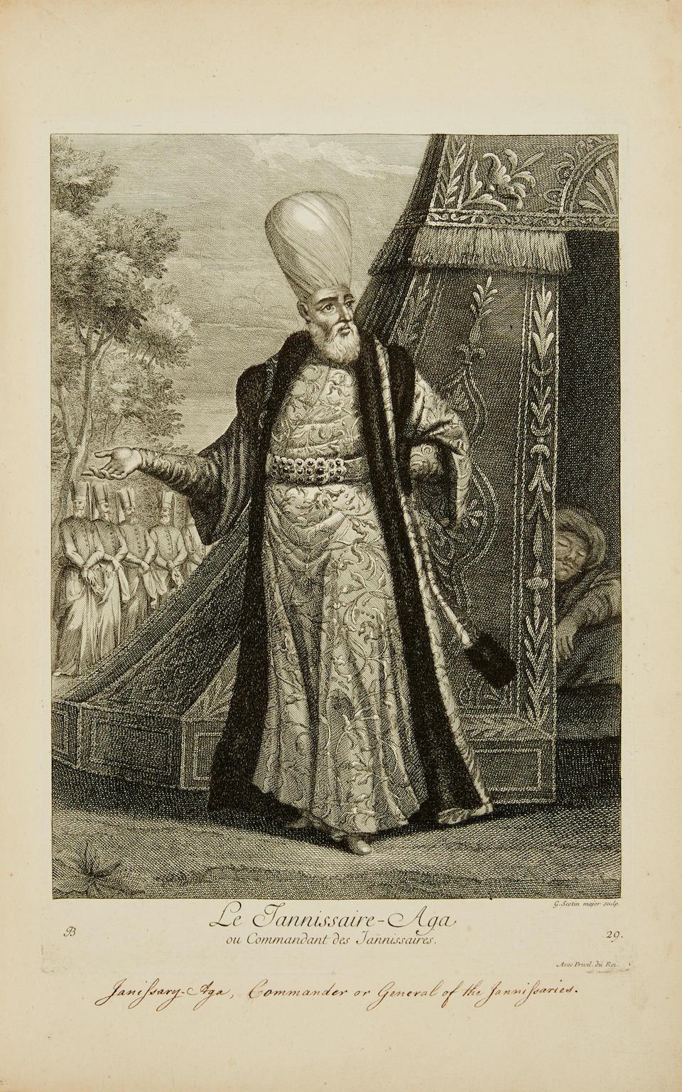 FERRIOL, CHARLES DE. 1637-1722. Recueil de cent estampes representant differentes nations du Levant.... Paris: Basan, 1714 [but c.1756-1768].