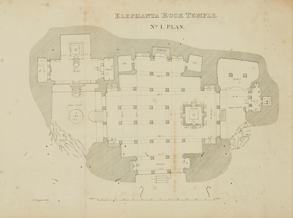 BURGESS, JAMES. 1832-1913. The Rock-Temples of Elephanta or Garapuri. Bombay: D.H. Sykes & Co., and Thacker, Vining & Co.: 1871.