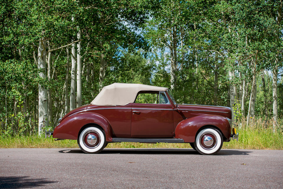 <b>1940 Ford Deluxe Convertible</b><br />Chassis no. 185496038/CA498524