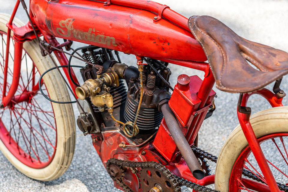 1914 Indian 7hp Board Track Racing Motorcycle Replica Engine no. 34F015