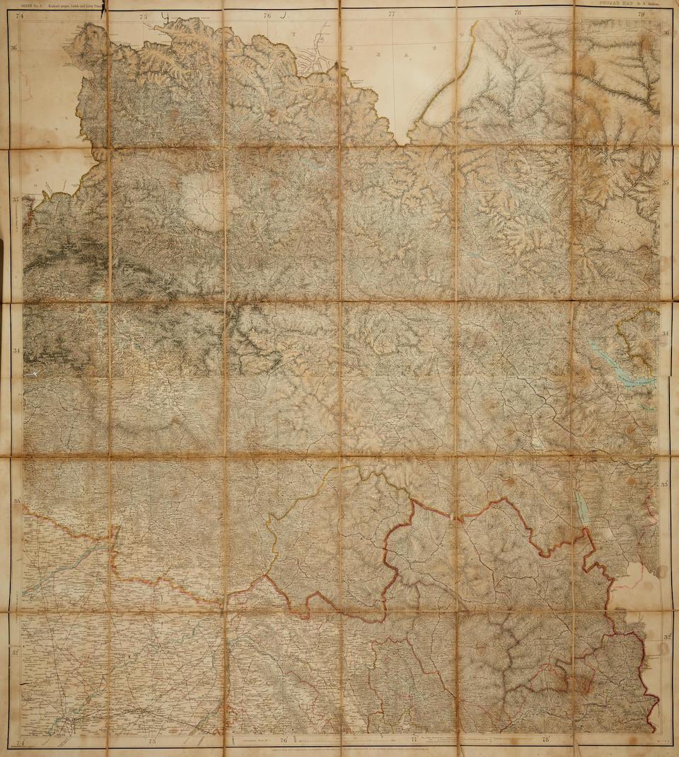 Schraembl, Franz Anton. 1751-1803. Neueste Karte von Hindostan Bengalen ... verfusst von Hern Jacob Rennell. Vienna: 1788.