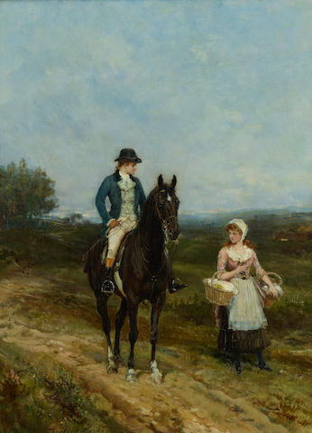 Heywood  Hardy (British, 1842-1933) The young squire 20 5/8 x 15 1/8in (52.4 x 38.4cm)