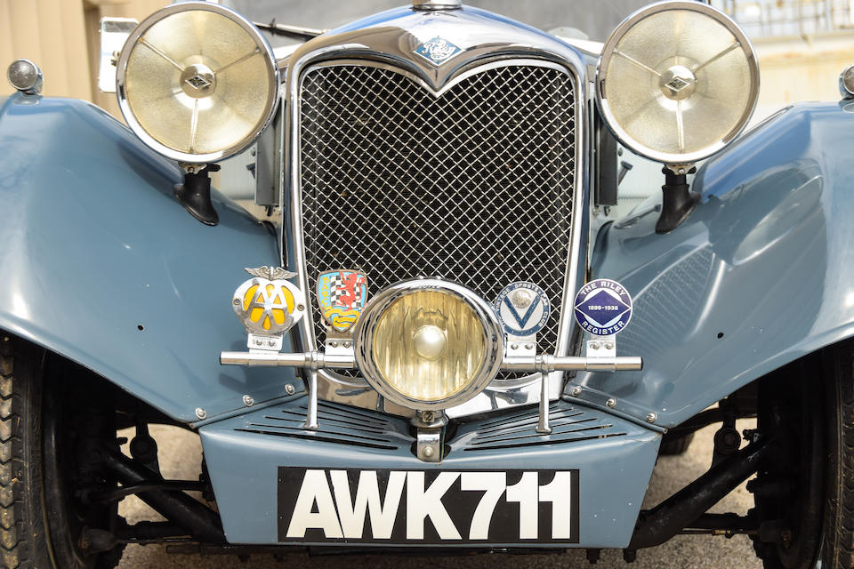 <b>1935 Riley 1&#189; Liter Kestrel Saloon</b><br />Chassis no. 22T1724<br />Engine no. 375703