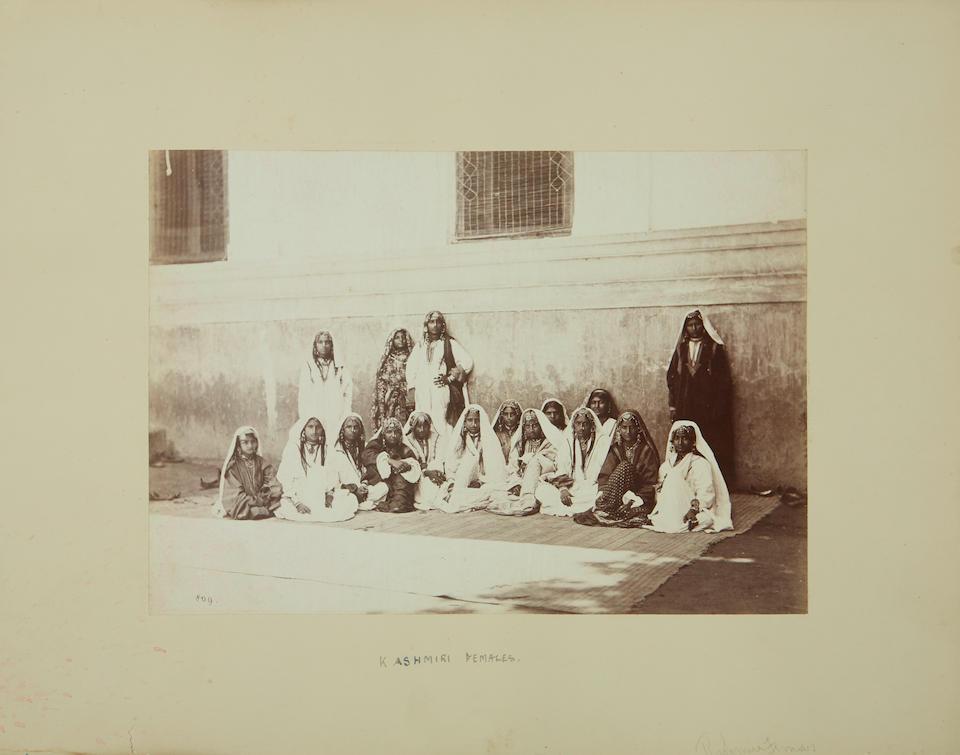 Indian Portraits. A collection of 54 carte-de-visite portraits of Indian men and women,