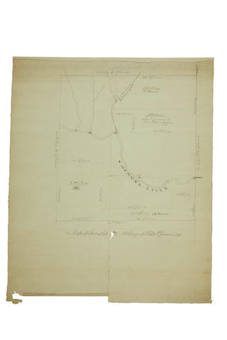 Land Grants for Chemung River and Northumberland County, New York State. Map of Township No 2: 1st Range of Phelps & Gorain. 1798; A Map ... of land being in...?