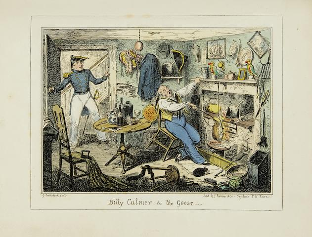 CRUIKSHANK, GEORGE. 1792-1878. 2 titles: 1. Greenwich Hospital. London: James Robins & Co., 1826.