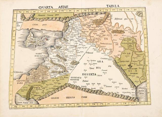 WALDSEEMULLER, MARTIN. C.1470-C.1522. Quarta Asiae tabula. [Strasbourg: 1513.]