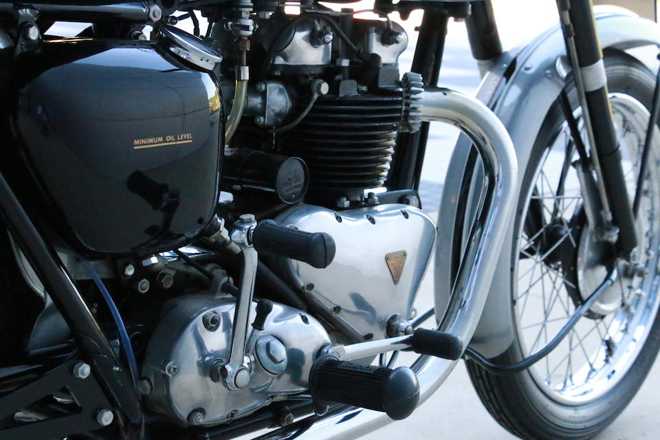 1956 Triumph 650cc 6T Thunderbird Frame no. 72361 Engine no. 72361