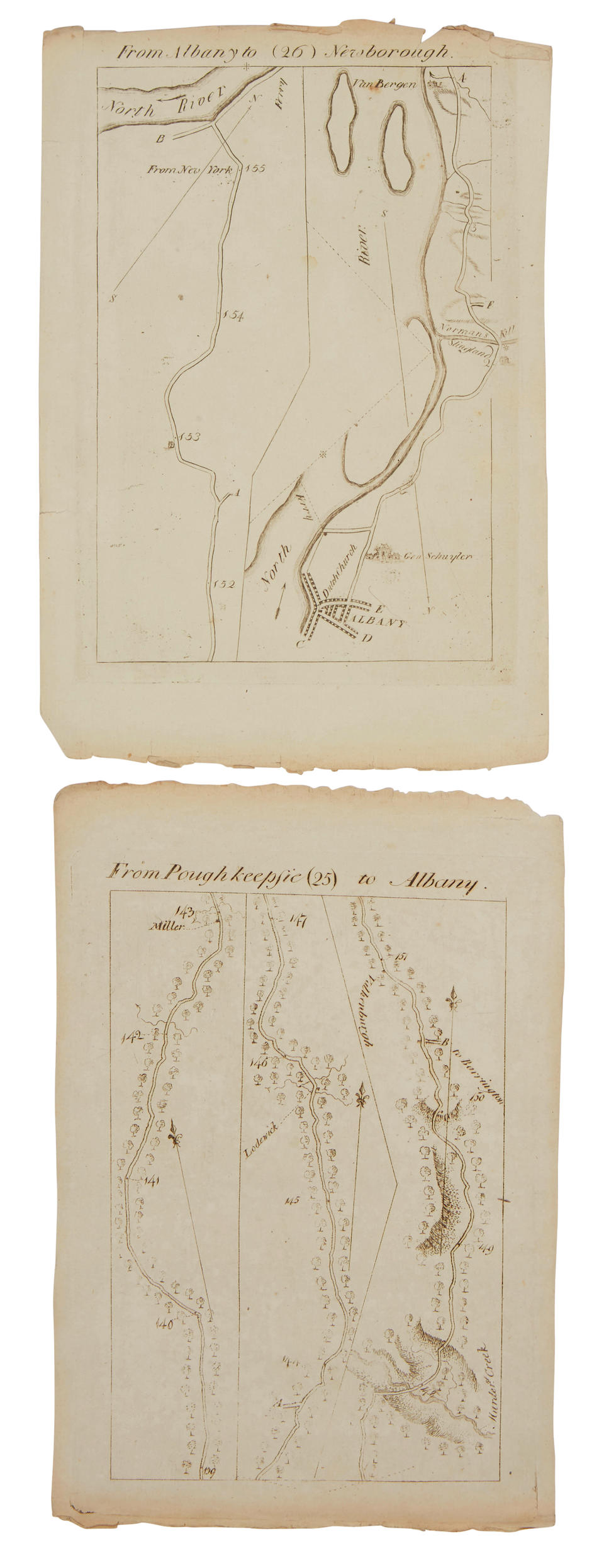 Colles, Christopher. 1739-1816. A Survey of the Roads [of the United States of America]. [New York: 1789].