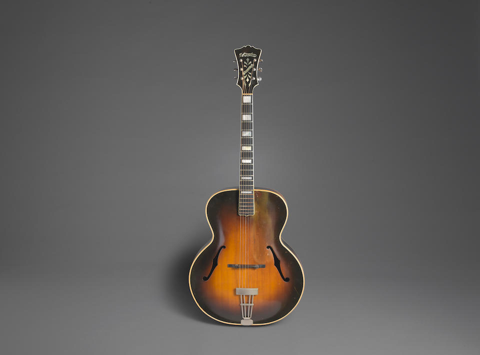 A D'ANGELICO STYLE A ARCHTOP ACOUSTIC GUITAR OWNED AND PLAYED BY JERRY GARCIA