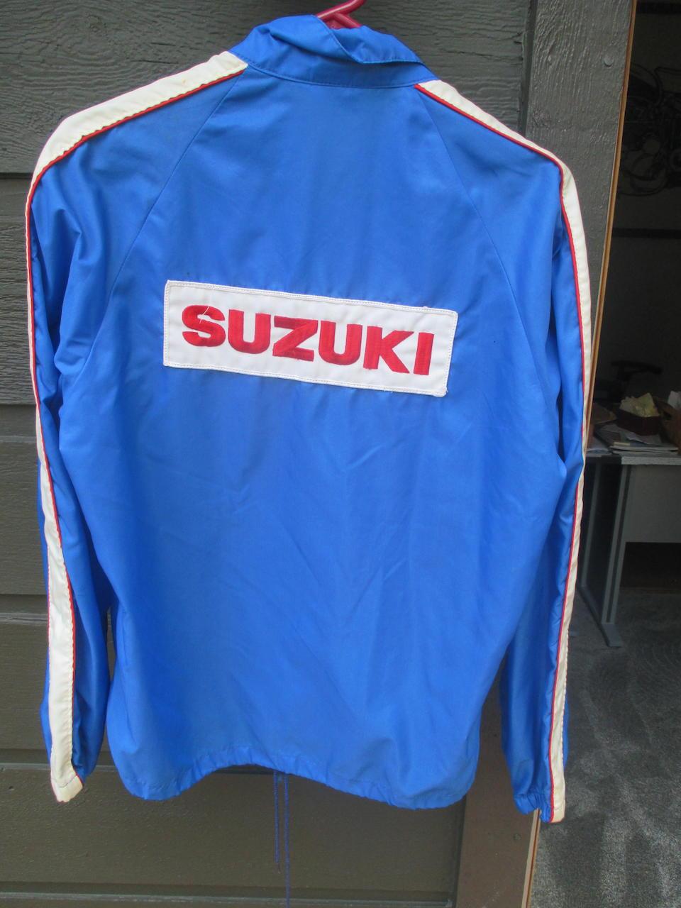 A Team Suzuki jacket signed by Gary Nixon