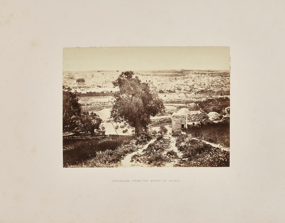 FRITH, FRANCIS. 1822-1898. Sinai and Palestine. London, Glasgow and Edinburgh: William MacKenzie, [1863].
