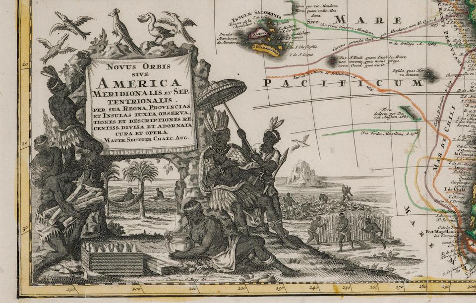 SEUTTER, MATTHAUS. 1678-1757. Novus Orbis Sive America Meridionalis et Septentrionalis.... Augsburg: [c.1730].