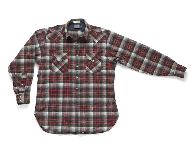 A PLAID SHIRT WORN BY JERRY GARCIA early 1990s