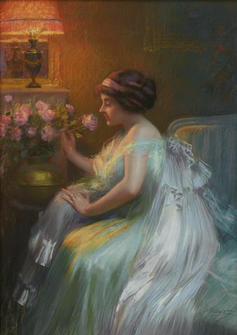 Delphin Enjolras (French, 1857-1945) Le bouquet 28 3/4 x 21 1/4in (73.1 x 54cm)