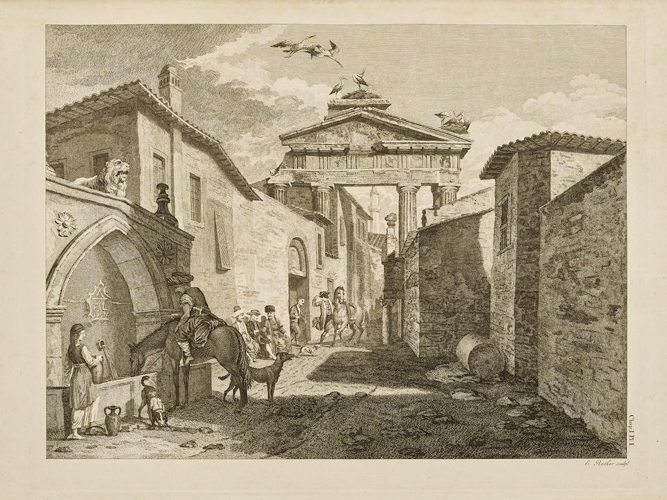 STUART, JAMES; AND NICOLAS REVETT.  The Antiquities of Athens. London: John Haberkorn, John Nichols, et al, 1762-1830.