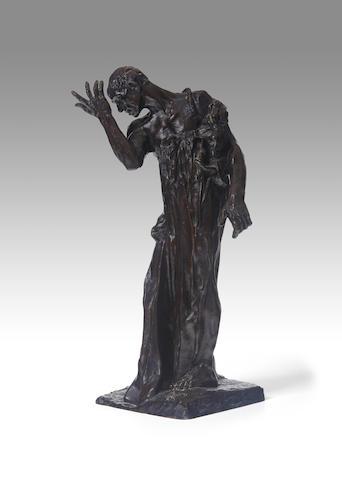 AUGUSTE RODIN (1840-1917) L'un des Bourgeois de Calais: Pierre de Wiessant, vêtu, réduction 17 3/4 in (45 cm) (height) (Conceived between 1887-1895, this version reduced in 1895, and cast between 1930-1945)