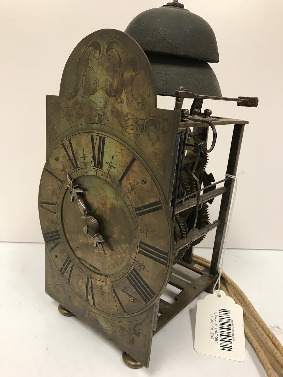 A rare Italian quarter striking chamber clockcirca 1700