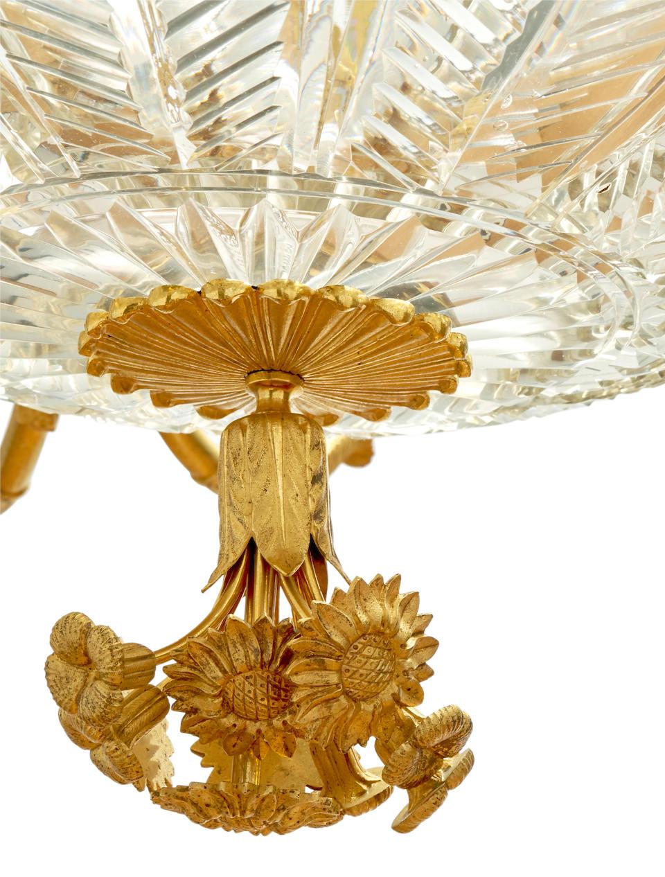 A fine ormolu and cut-glass twenty-light chandelierRussia, probably St. Petersburg, c. 1820