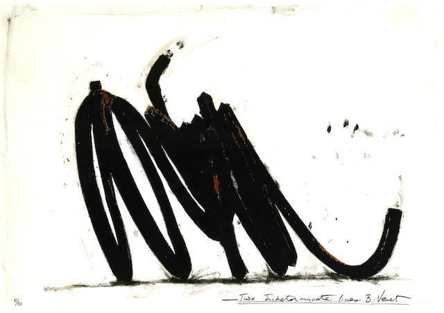 Bernar Venet (born 1941); Two Indeterminate Lines;