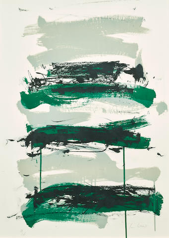 Joan Mitchell (1925-1992); Champs- Black, Gray and Green;