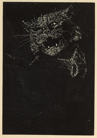 POE, EDGAR ALLAN. 1809-1849. The Black Cat. Easthampton, MA: Cheloniidae Press, 1984.