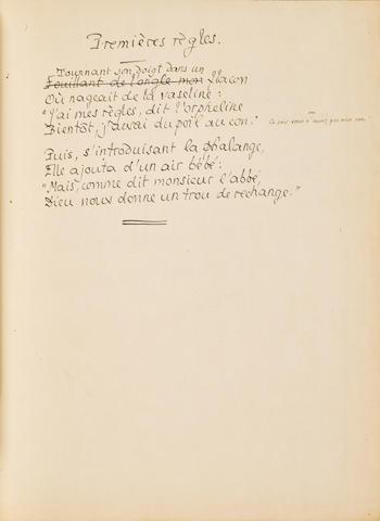 LOUYS, PIERRE. 1870-1925. Poemes erotiques inedits. Paris [Nice]: [Andre Bottin], 1945.