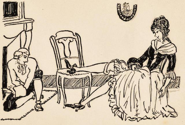 SAUVAGE, SYLVAINE. 1888-1948. Monsieur Nicolas. 98 original drawings, in ink, various sizes