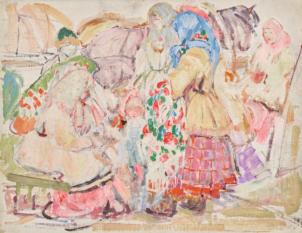 Leon Schulman Gaspard (1882-1964) Peasant group, Russia