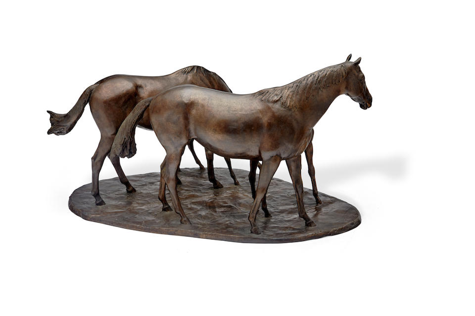 John Rattenbury Skeaping R.A. (British, 1901-1980) Mares and foals Height: 12 1/4in (31.1cm); Width: 24 1/4in (61.6cm)