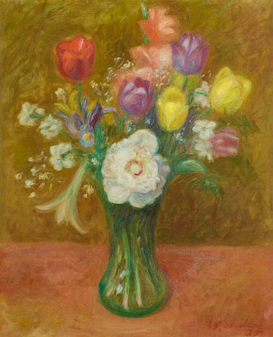 William Glackens (1870-1938) Tulips 24 x 19 3/4in (61 x 50.2cm) (Painted in 1935.)