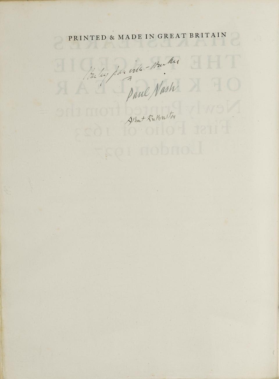 SHAKESPEARE, WILLIAM. 1564-1616. The Players' Shakespeare. Stratford-upon-Avon: The Shakespeare Head Press, 1923-1927.