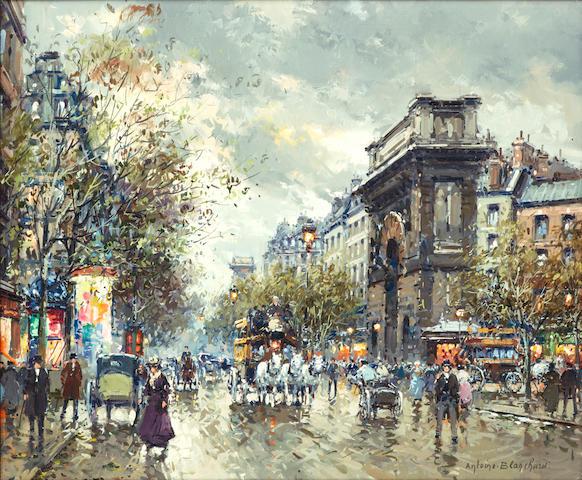 Antoine Blanchard (French, 1910-1988) La Porte Saint Martin 18 x 21 1/2in (45.7 x 54.6cm)