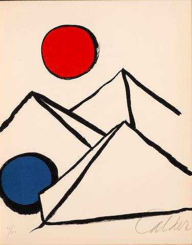 CALDER, ALEXANDER. 1898-1976. DUPIN, JACQUES. 1927-2012. Fits and Starts. Weston, CT: Living Hand, 1974.