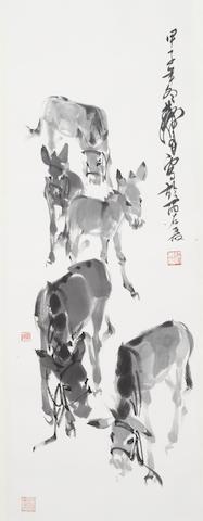 Huang Zhou (1925-1997)  Five Donkeys, 1984