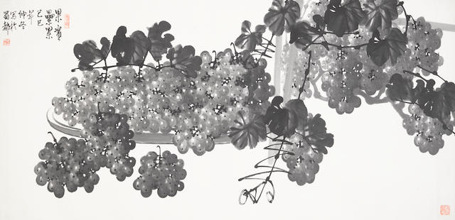 Attributed to Su Baozhen (1916-1990) Grapes, 1989