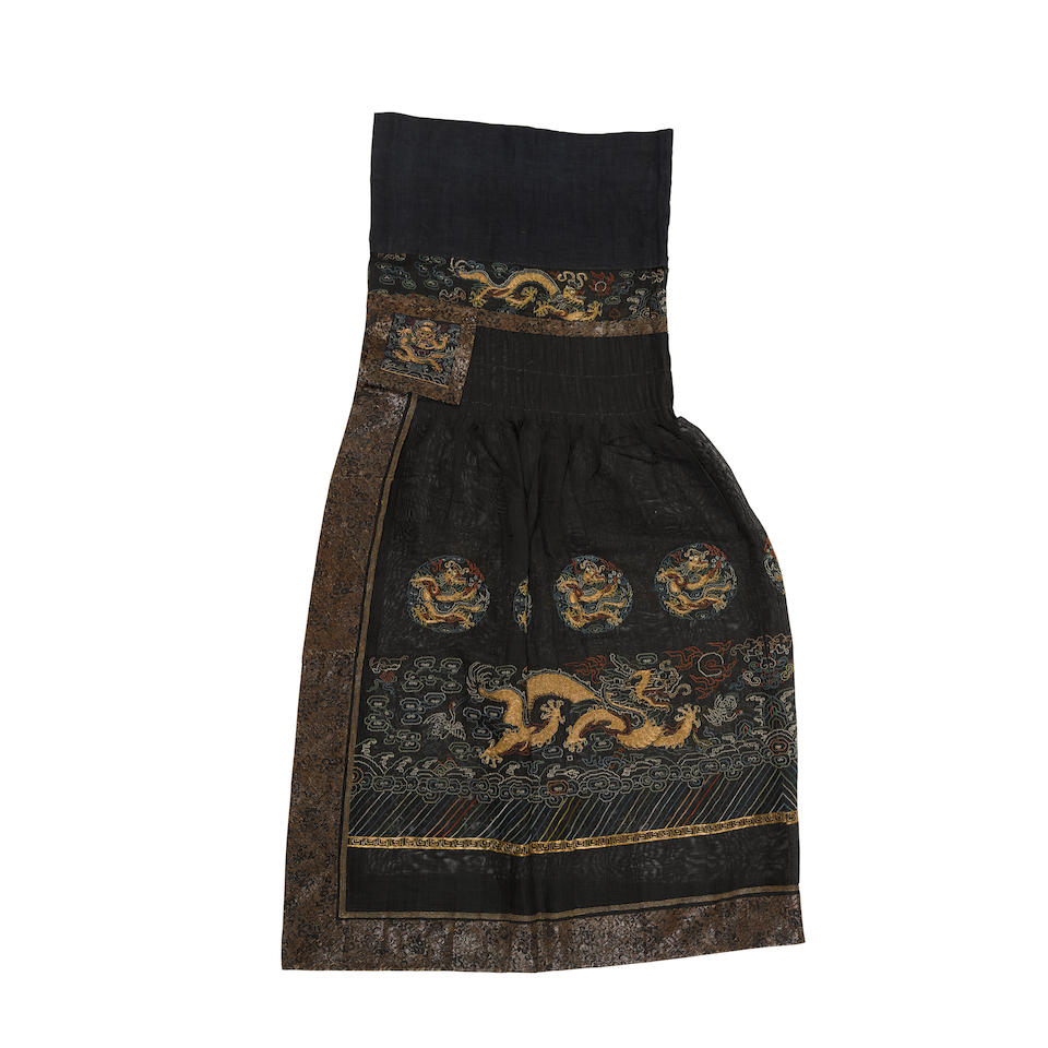 A skirt from a Manchu offical's chao fu Late Qing dynasty