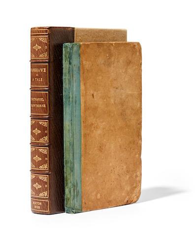 HAWTHORNE, NATHANIEL. 1804-1864. Fanshawe, A Tale. Boston: Marsh & Capen, 1828.
